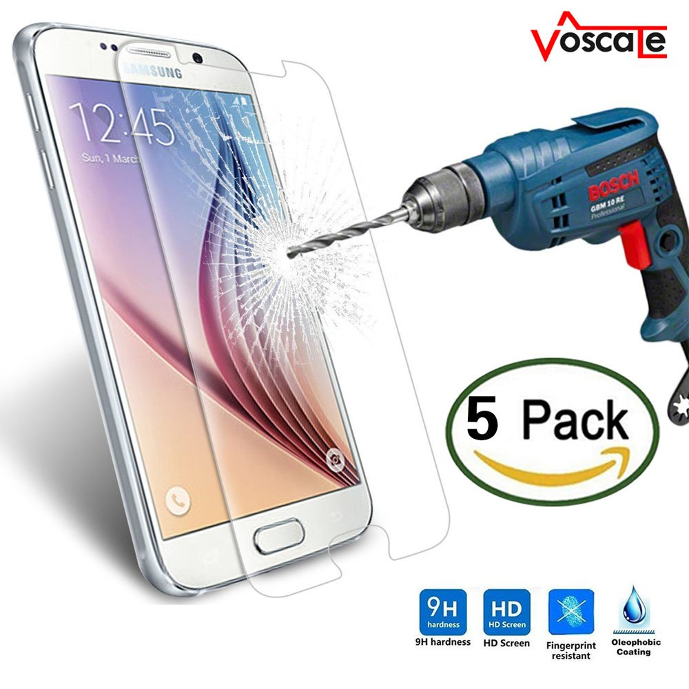 For Samsung Galaxy S6 Screen Protector, Tempered Glass Premium Anti-scratch Nano Tempered Screen Protector for Samsung Galaxy S6 (5 Pack)