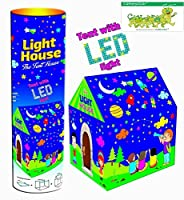 This is the Latest offering From Brand Catterpillar , Children Tent house with LED Lights which glow in the dark , Can be assembled easily , No Tools Required .This Full Size Cottage Tent House Is For Indoor As Well As Outdoor Play. Children Can Actu...