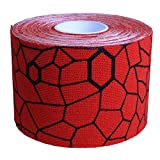 Theraband Kinesiology Tape Standard Roll, Red/Black Print, 2 Inch X 16.4 Feet