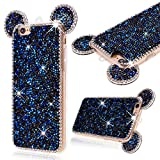 Cell Phones Accessories Best Deals - GrandEver Soft Bumper Case for iPhone 6 iphone 6S Silicone TPU Back Cover, iPhone 6 Diamond Back Case Mickey Mouse Ear Design, iPhone 6S Rhinestone 3D Diamond Bling Sparkle Shiny Pattern, Apple Cell Phone Accessory with Hand Strap Kits Scratch-Proof Prote