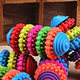 Pecute® Durable Colorful 5 Ring Healthy Gums Amusing Play Toys Gear Swivel Tooth Care Pet Dog/Cat Chew Toy Teeth Clean Teethers Puppy Pet Products