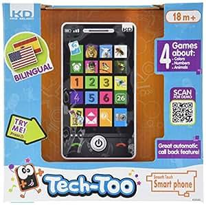 Kidz Delight Kidz Delight Smooth Touch Smart Phone, Black Display