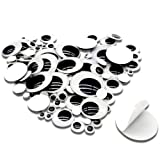 TOAOB 100 Pieces Wiggle Googly Eyes with Self-Adhesive Black 6mm to 35mm Round Mixed Size DIY Scrapbooking Crafts (Color: Black, Tamaño: Mixed Sizes1)