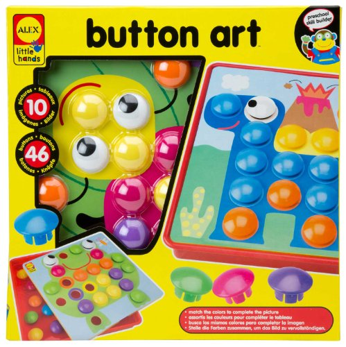 ALEX® Toys – Early Learning Button Art -Little Hands 1408