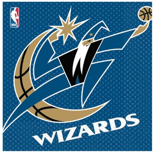 Costumes 203673 Washington Wizards Basketball- Lunch Napkins
