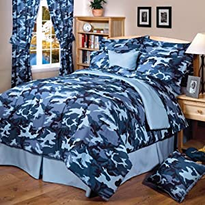 Amazon Com Blue Camouflage Bedding Complete Set Full
