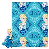 Disneys Frozen Elsa Fleece Throw And Hugger Doll Set - By The Northwest Company, 40-inches By 50-inc