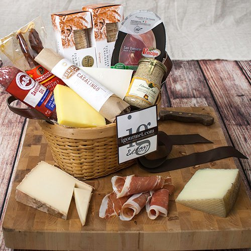 Connoisseur's Meat and Cheese Gift Basket (6 pound) image