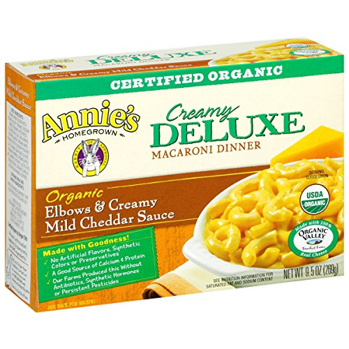 Annie's Organic Elbows & Creamy Mild Cheddar Sauce, 9.5 oz, 6 Pack (Whole Grain Mac And Cheese compare prices)