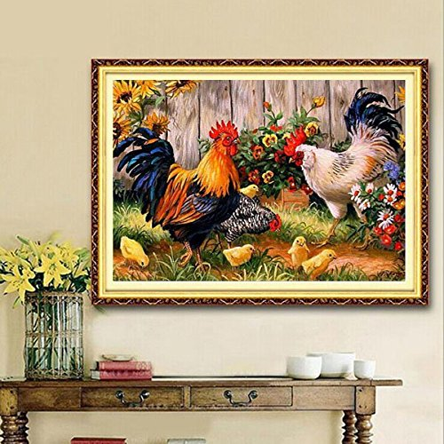 Yongse Kit 30x40cm animaux Cock famille bricolage diamant peinture strass Cross-stitch