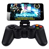 Android Wireless Game Controller, Baigeda Bluetooth Gamepad Joystick Remote for Android Devices (Phone/Tablet/Pad/TV/TV BOX/Samsung Gear VR/Fire Stick), Rechargeable Joypad with Clip for Smartphone (Color: Black)