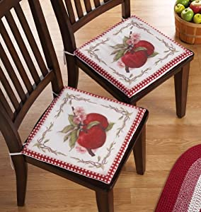 Sweet Country Apple Kitchen Chair Cushions