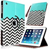 ULAK iPad 2 3 4 Case, 360 Rotating Magnetic Synthetic Leather stand Case Smart Cover For Apple New iPad 4th Generation (Wake/sleep Function) Apple iPad 2, iPad 3(the new iPad) (Pattern-FOLLOW THE SKY)