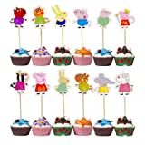 Peppa Pig Cupcake Toppers Party Pack for 24 Cupcakes