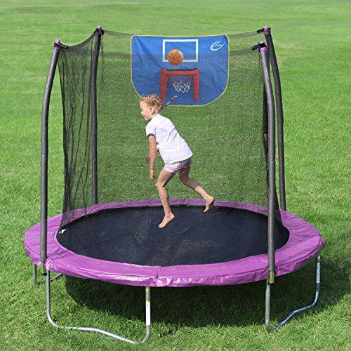 Trampoline Skywalker 8 Ft Jump N Dunk Safety Enclosure