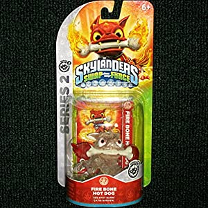CRYSTAL CLEAR Fire Bone Hot Dog RED FLAMES VARIANT Skylanders SWAP Force Frito-Lay Promo Exclusive