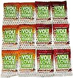 You Love Veggies Organic Veggie Leather Variety Pack of 12