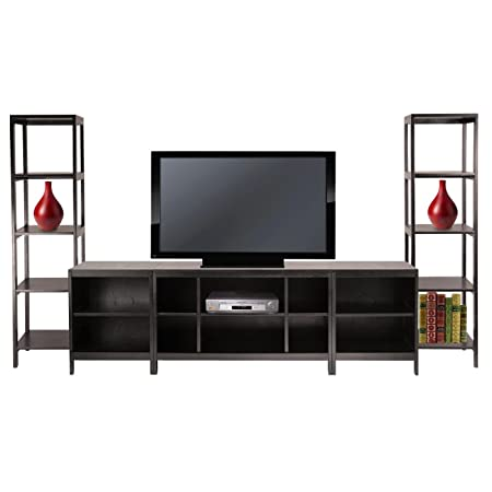 Wood Hailey 5 Piece Tv Stand and Shelf Set Entertainment Center