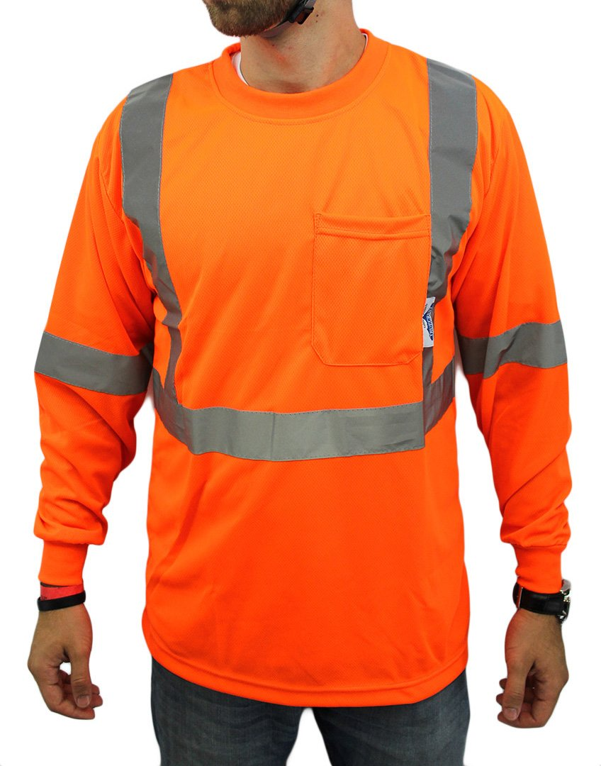 Class 2 Max Dry Moisture Wicking Mesh Long Sleeve Safety T