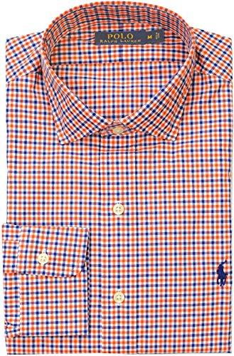POLO RALPH LAUREN Men's Estate Checkered Poplin Shirt Extra Large (Royal Orange) (Royal Orange)