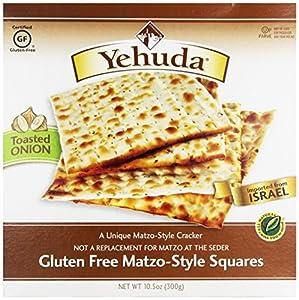 Yehuda Matzo-Style Squares Gluten Free Toasted Onion -- 10.5 oz