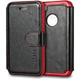 iPhone 4s Case Wallet,Mulbess [Layered Dandy][Vintage Series][Black] - [Ultra Slim][Wallet Case] - Leather Flip Cover With Credit Card Slot for Apple iPhone 4s / iPhone 4