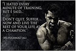 100yellow Posters4u - Poster Motivational Quotes, Poster Inspirational Quotes, Posters for Startups, Cassius Clay Poster, muhammad ali Poster, Boxing Poster