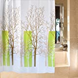 Harbor-Tower shower curtains, waterproof and mildew, bare branches 72x72(inches)