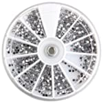 SODIAL (R)3000pcs Strass Rond 2mm Dec...