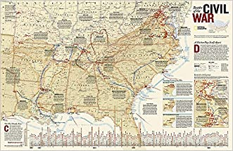 Battles of the Civil War [Laminated] (National Geographic Reference Map)