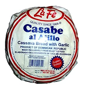 La Fe Casabe De Ajo Super Selected Garlic Cassava Bread From Dominican Republic 8 Oz