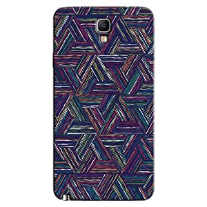 TRAINGLE COLORED LINES BACK COVER FOR SAMSUNG GALAXY NOTE 3 NEO