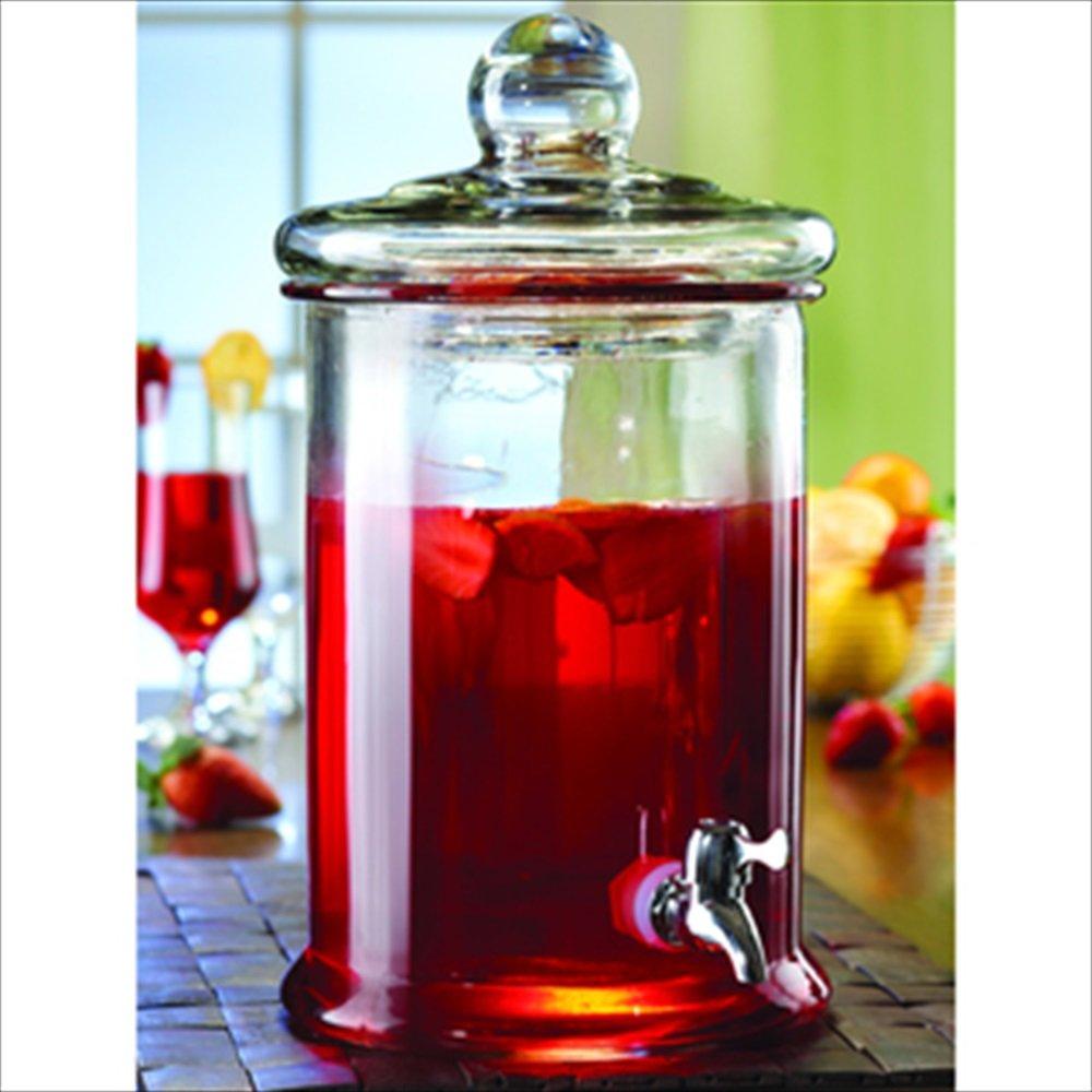 4.8ltr BOCCA GLASS DRINKS DISPENSER Glass Lemonade Juice beverage Dispenser jar