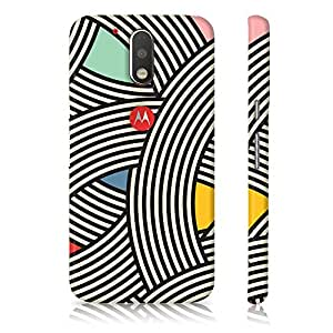 Motorola Moto G4 Plus 4th Generation Black & White Pattern Printed Designer Mobile Phone Case Back Cover by Be Awara - Matte Finish