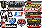 Motocross Motor Racing Cycle Tuning Kit Logo Dirt Bike Racing Decor Decal Sticker Decals /Sheet Size 10.5 X 7