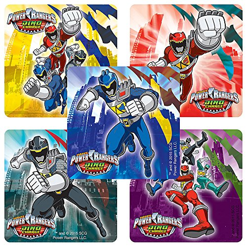 Power Rangers Dino Charge Stickers - Birthday and Theme Party Favors - 75 per Pack