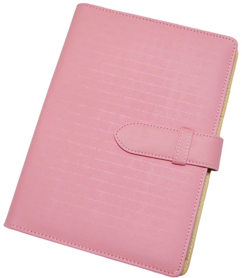 a5 システム手帐 粉红色 定番 使えるリフィル5点付き