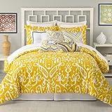 Trina Turk 3-Piece Ikat Comforter Set, King, Yellow