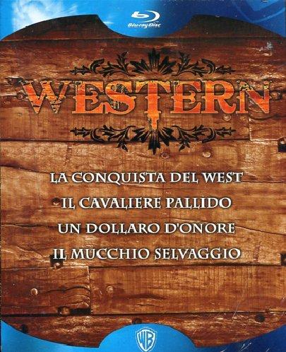 Western: La conquista del West + Il cavaliere pallido + Un dollaro d'onore + Il mucchio selvaggio [Blu-ray] [IT Import]