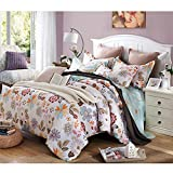 FeiLimei Bedding&Clothes 布団カバー 綿100 4点セット 花柄 BC1807