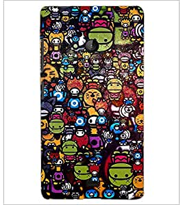 PrintDhaba Graffiti D-3846 Back Case Cover for MICROSOFT LUMIA 540 (Multi-Coloured)
