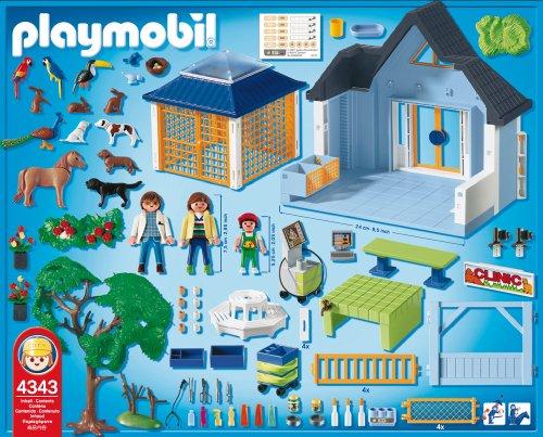 opiniones de playmobil 4343 zoo cl nica veterinaria comprar en juguetes de amazon. Black Bedroom Furniture Sets. Home Design Ideas