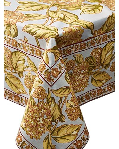 April Cornell Hydrangea Breakfast Tablecloth, Lite Smoke