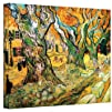 Art Wall The Road Menders by Vincent Van Gogh Gallery Wrapped