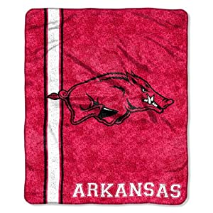Brand New Arkansas Jersey 50x60 Sherpa Throw by Things for You