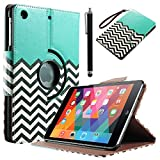 iPad Mini Case, iPad mini 2/3 Case - ULAK 360 Rotating PU Leather Stand Case with Auto Sleep/Wake Function for Apple iPad Mini, iPad Mini 2 & 3 (FOLLOW THE SKY-Blue)