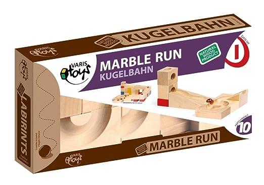 Jouet en bois VARIS Marble Run extra set I - Jeu Construction Bois
