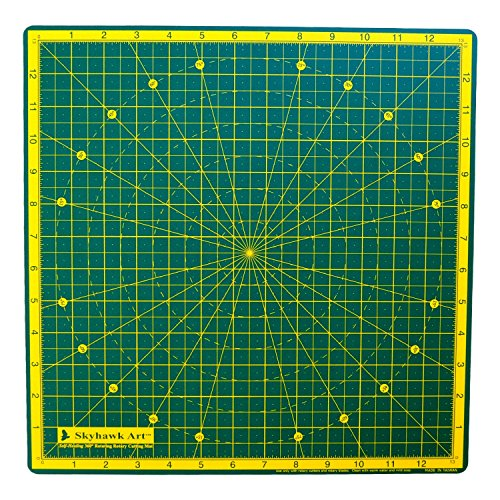 """Skyhawk 14"""" X 14"""" 360° Rotating Cutting Mat - Self Healing - Perfect for Quilting, Paper Craft, Scrapbooking, Clay Craft, Modeling, Painting, or Any Other Craft or Hobby"""