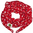 New with Tags Christmas Santa Claus Print Scarves Women Scarf (Red)