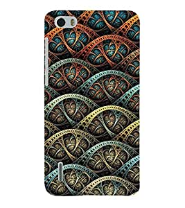 Abstract Design 3D Hard Polycarbonate Designer Back Case Cover for Huawei Honor 6